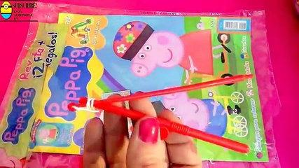 Ice cream Peppa Pig, duck, ducks fishing, and magazine with games and toys surprise