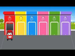 Learn Colors with School Bus Colours to Kids Children Toddlers Baby Play Videos