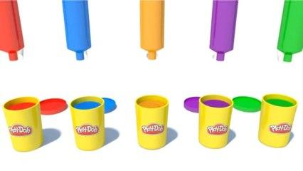 Learning Colors with Play Doh 3D Animation for toddlers and children
