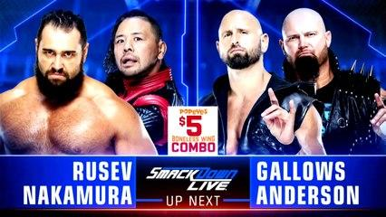 LUCHA COMPLETA: Rusev & Nakamura vs. Gallows & Anderson | WWE SmackDown LIVE HD