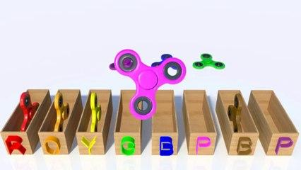 Learn Colors for Kids with 3D Spinners colours