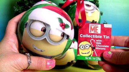 Minions Christmas Ornaments Surprise Eggs Disney Princess Kinder Huevos Sorpresa de Navidad
