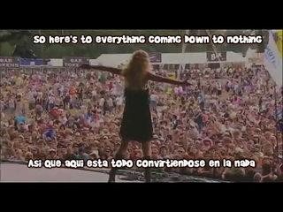 Taylor Swift - Forever and Always LIVE (Subtitulos en ingles y en español)