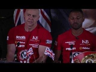 Kell Brook alongside Dominic Ingle at the Presser ahead of boxing Errol Spence