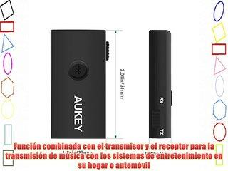 Aukey® BT-C2 Bluetooth 3.0 Transmisor y Receptor 2-en-1Adaptador de bluetooth dongle música