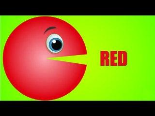 Learn Colors with Pacman Colours to Kids Children Toddlers Baby Play Videos HD