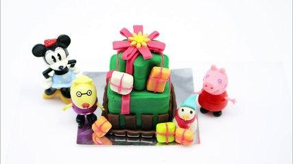 Peppa Pig en Español La navidad de peppa - Play doh Peppa Pig mickey mouse makes cake christmas