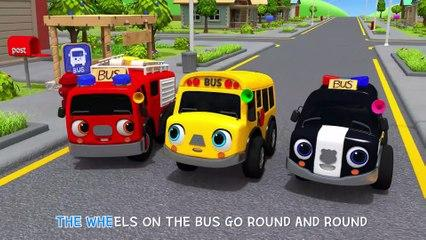 Wheels On The Bus Go To Town | Learn Traffic safety Song | Nursery Rhymes & Kids Songs - ToyMonster
