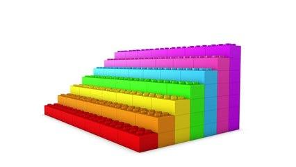 Learn Colors With 3D Rainbow LEGO Blocks Stairs For Kids -z Children Toddlers and Babies Colours