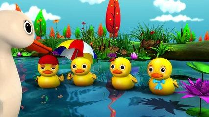 karaoke: Five Little Ducks - Instrumental Version With Lyrics HD from LittleBabyBum!