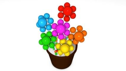 Learn Colors with 3D Flowers for Kids