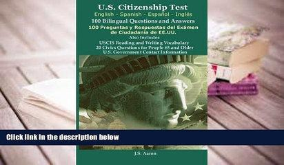 PDF  *U.S.Citizenship Test (English and Spanish - Español y Inglés) 100 Bilingual Questions and
