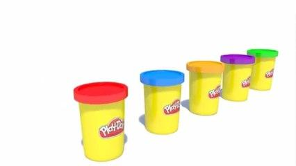 Learn Colors With Play Doh For Kids -z - Colours With Glue Play Doh For Children 3D Educational