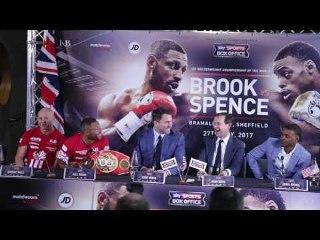 Kell Brook V Errol Spence Dominic Ingle in Combative mood at Press Conference