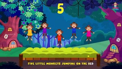 Five Little Monkeys| The Funny Monkeys Jumping On The Bed| Superkid TV Kids Songs